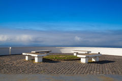 View point and picnic area on the cliff above the sea, Azores is. View point and picnic area on the cliff above the sea, Terceira, Azores islands Stock Photography