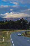 View point of route no.6 between lake te anau to queenstown new Royalty Free Stock Photo