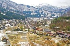 View point in Shirakawago Village, Japan. Royalty Free Stock Images
