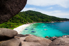 View Point at Similan island,Andaman Sea Royalty Free Stock Photography