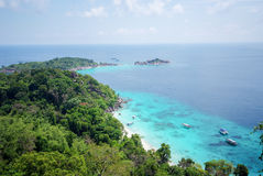 View point at Similan island, Thailand Stock Images