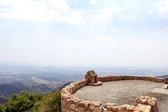 A view point at Skyforest California stock photo
