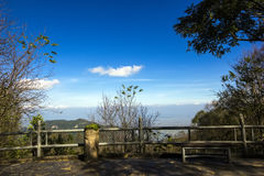 View point at Suan Mae Fha Luang Garden Royalty Free Stock Photography