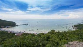 View point Ta Waen Beach at Koh Lan Island Phattaya Thailand,One of the most beautiful island in Thailand. Photo of View point Ta Waen Beach at Koh Lan Island Royalty Free Stock Image