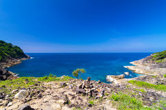 View point at Tachai island, Paradise seascape, Phang nga, Thail Royalty Free Stock Images