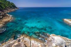 View point at Tachai island, Paradise seascape Royalty Free Stock Photos