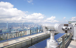 View point with telescope Royalty Free Stock Photography