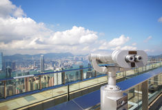 View point with telescope Royalty Free Stock Photo
