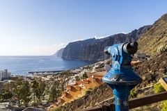 View point at Tenerife stock photography