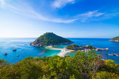 View point from top of mountain for see the beach Royalty Free Stock Images