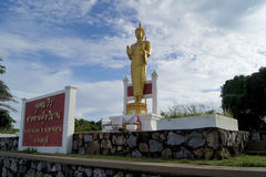 The view point of tourist attractions IN EASTERN THAILAND. 30 OCTOBER 2016; The standing Buddha source on the view point of tourist attractions IN EASTERN stock photos