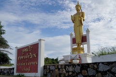 The view point of tourist attractions. 30 OCTOBER 2016; The standing Buddha source on the view point of tourist attractions IN EASTERN THAILAND Stock Photography