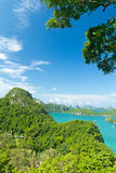 View point, Wua Talab island, Ang Thong National Marine Park Stock Photo