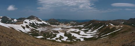 View on the poisonous Ohachidaira caldera in Daisetsuzan National Park Royalty Free Stock Photography