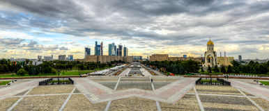 View from Poklonnaya Hill Stock Images