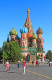 View of Pokrovsky cathedral on Red square in Moscow, Russia Royalty Free Stock Photography