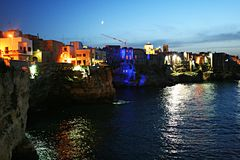 Polignano night colors Stock Photo