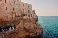 View of polignano a mare, italy Royalty Free Stock Images