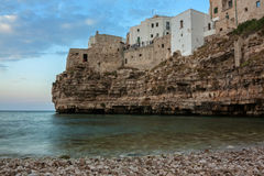 View of polignano a mare, italy Royalty Free Stock Image