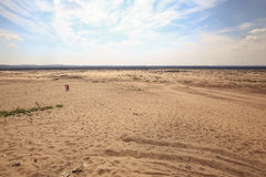 View of the Polish Bledowski desert / landscape stock photography