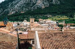 View of the Pollensa from Calvary, Mallorca, Spain Royalty Free Stock Photos