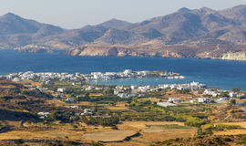 View of Pollonia village, Milos island, Greece Stock Photos