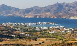 View of Pollonia village, Milos island, Greece Stock Photos