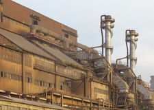 View of Pollution heavy industrial iron plant Royalty Free Stock Photos