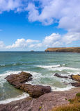 View From Polzeath Beach Royalty Free Stock Images