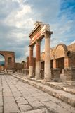 View of the Pompei ruins in Italy Royalty Free Stock Images