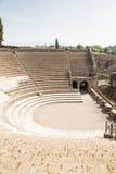 View of Pompeii Amphitheater Stage Stock Photo