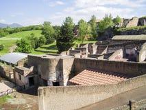 View of Pompeii, buried Roman city near Naples, Royalty Free Stock Photos