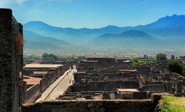 The view of Pompeii Royalty Free Stock Images