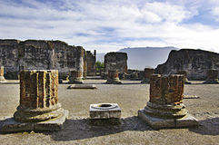 View of Pompeii ruins. Italy. royalty free stock photo
