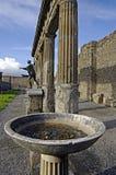 View of Pompeii ruins. Italy. Royalty Free Stock Photos