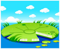 The view of Pond background Royalty Free Stock Photos