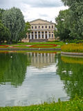 View of a pond and case of University of engineers of means of communication. St. Petersburg Stock Image