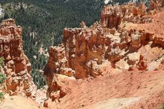 View from Ponderosa Point in Bryce Canyon National Park. Utah. USA Stock Photography