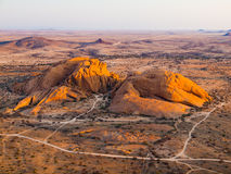 View from Pondoks in Spitzkoppe area Royalty Free Stock Images
