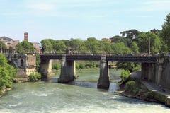 Pons Aemilius Ponte Rotto and Ponte Palatino in Rome royalty free stock photo