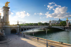 View on pont Alexadre III Stock Image