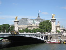 View on the Pont Alexandre III in Paris Stock Photo