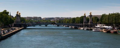 View on the Pont Alexandre III in Paris Stock Photography