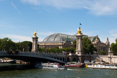 View on the Pont Alexandre III in Paris Royalty Free Stock Image