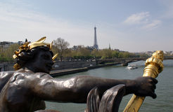 View from Pont Alexandre III, Paris, France. Royalty Free Stock Photo