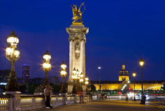 View on Pont Alexandre III Stock Images