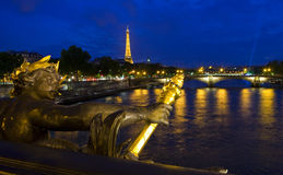 View from Pont Alexandre III in Paris Royalty Free Stock Photo