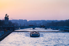 View of pont alexandre iii in Paris Royalty Free Stock Images