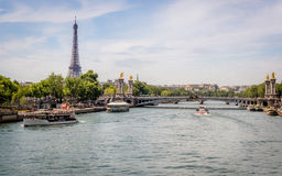 A view from Pont Alexandre III Royalty Free Stock Image