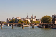 View of the Pont des Arts, Paris Stock Image